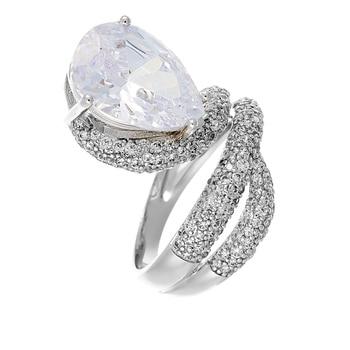 Кольцо из серебра с фианитами R01163