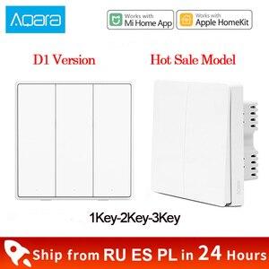 Image 1 - Xiaomi Aqara Wall Switch D1 ZigBee Smart Light Remote Control Wireless Key Zero Line Fire Wire NO Neutral 3 Key Switchs MI Home