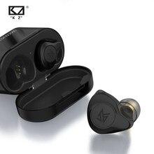 Kz s2 1ba + 1dd tws sem fio bluetooth 5.0 fios de controle toque aac híbrido fone de ouvido fone de ouvido fone de ouvido kz s1 z1 z3 e10