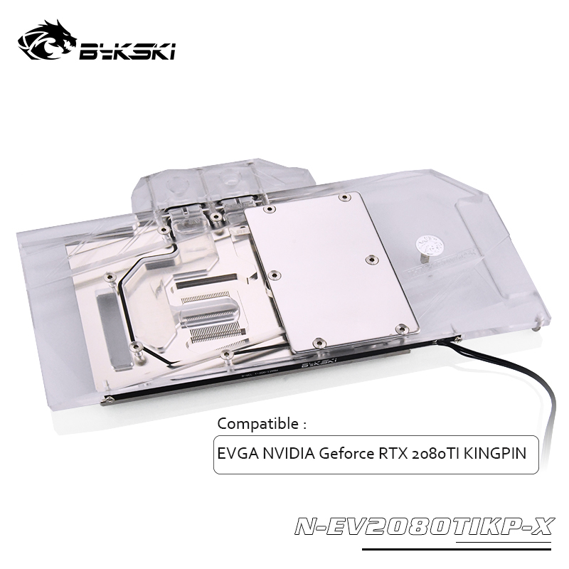 Bykski GPU water block for EVGA <font><b>NVIDIA</b></font> Geforce <font><b>RTX</b></font> <font><b>2080TI</b></font> KINGPIN Full Cover graphics card Water Block ,N-EV2080TIKP-X image