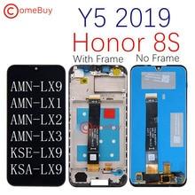 תצוגה מקורית עבור Huawei Y5 2019 LCD תצוגת מסך מגע עם מסגרת לכבוד 8S LCD AMN LX9 LX1 LX2 LX3 KSE LX9 KSA LX9