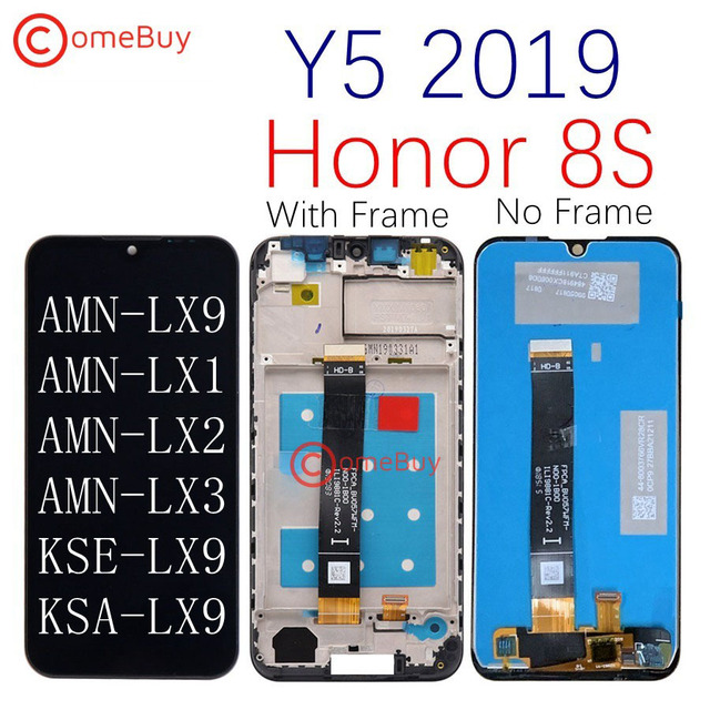 Original Display for Huawei Y5 2019 LCD Display Touch Screen With Frame for Honor 8S LCD AMN LX9 LX1 LX2 LX3 KSE LX9 KSA LX9