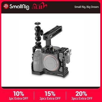 SmallRig  a7m3 a7iii Camera Cage Kit for Sony A7RIII/A7III Cage With Nato Handle + Double Ballheads Extension Arm Kit – 2103