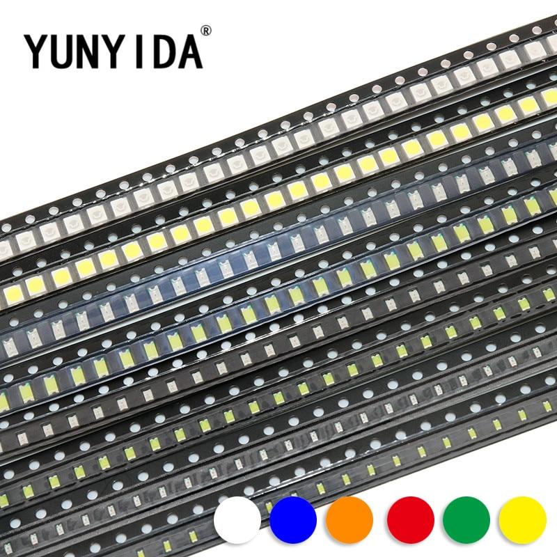 0603 0805 1206 3528 5050 5730 SMD  LED   Red  Yellow  Green  White  Blue Orange  light  emitting diode  100pcs/lot
