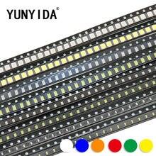 0603 0805 1206 3528 5050 5730 SMD LED Vermelho Verde Amarelo Azul Branco diodo emissor de luz Laranja 100 pçs/lote