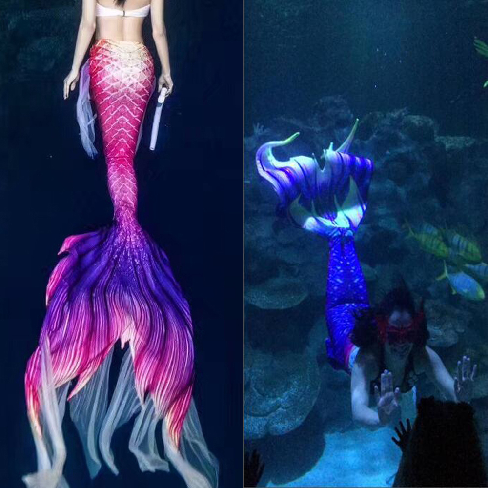 2020 Mermaid Tail For Women Girls Swimwear Summer Beach Vacation Mermaid Tail With Monofin Swimming Cospaly Costume Party Dress