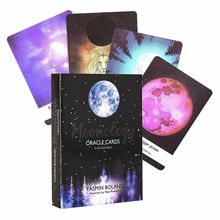 44PCS Tarot Cards Set Moonology Oracle Cards Deck Table Board Cards Game In English Cards For Party Entertainment Games карты оракул u s games systems oracle cards dream