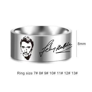 Французские 8 мм кольца в стиле панк-рок для мужчин и женщин, ювелирные изделия из нержавеющей стали в стиле хип-хоп, SL-153