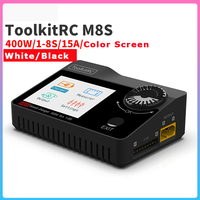 ToolkitRC M8S 400W 18A Color Screen Balance Charger Discharger For 1 8S Lipo LiHV Life Lion NiMh Pb Battery For RC models