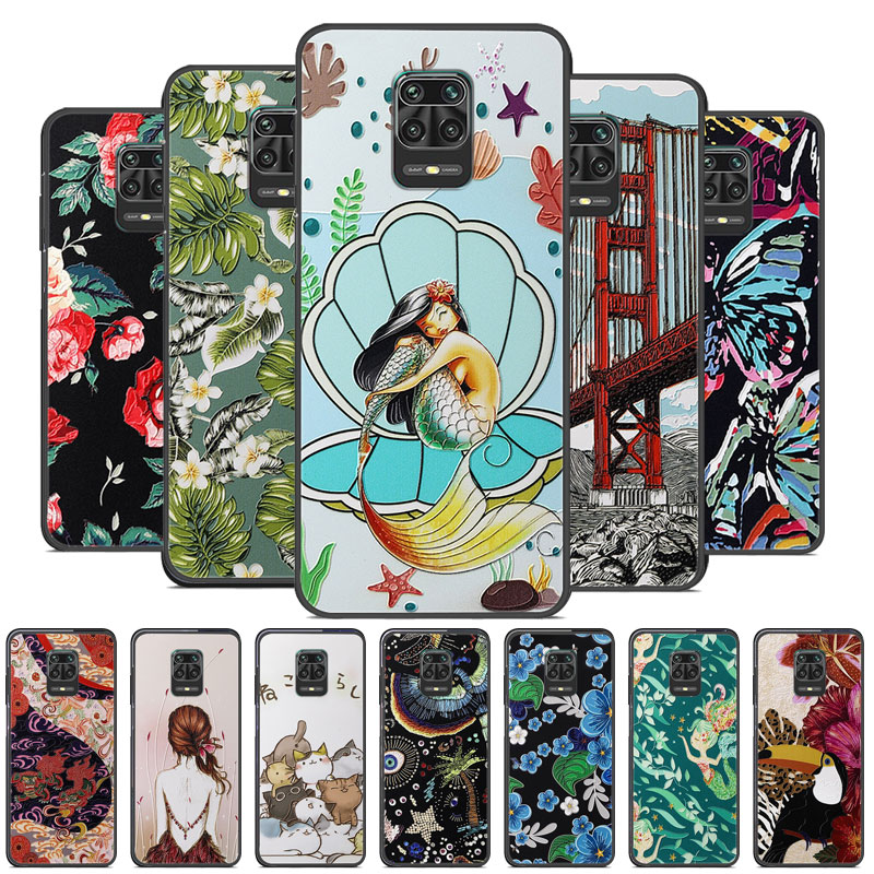 Redmi Note 9S Case 3D Emboss Silicone Soft TPU Phone Cover For Xiaomi Redmi Note9S 9 S Note 9 Pro Max 9Pro Case Cover Cartoon