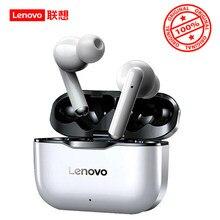 Oryginalny Lenovo LP1 TWS bezprzewodowy zestaw słuchawkowy Bluetooth 5.0 słuchawki podwójna redukcja szumów Stereo HIFI Bass Touch Control 300mAH
