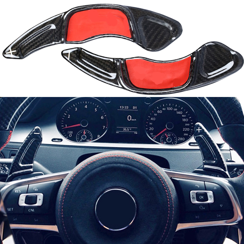 Carbon Steering Wheel Shift Paddle Extension Shifters Replacement For BMW Volkswagen VW GOLF 7 Golf7 2015-GTI R MK7 Scirocco