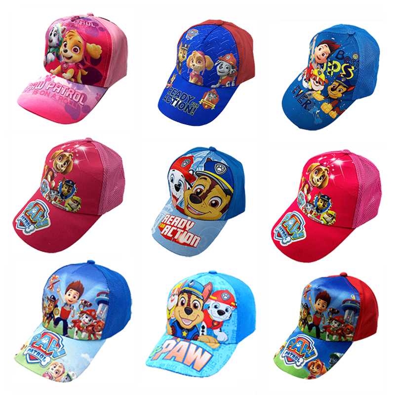 New Paw Patrol Cartoon Character Outdoor Sports Toy Hat Cute Comfortable Baseball Cap Sunscreen Mesh Cap Children's Party Gift