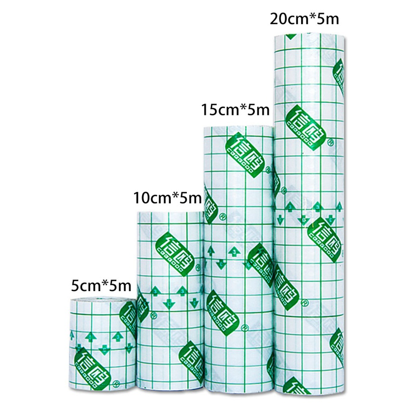 Transparent Tape PU Film Adhesive Plaster Waterproof Anti-allergic Medicinal Wound Dressing Fixation Tape