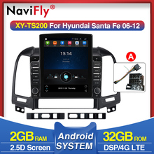"4G LTE 9.7"" Android  Car Multimedia Player For Hyundai Santa Fe 2 2006-2012 GPS Navi  Video Car Radio Head Unit WiFi no dvd"