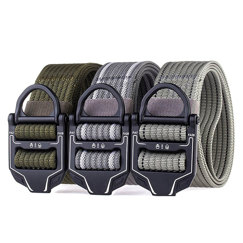 New Arrival Military Equipment Army Belt Men's Heavy Duty US Soldier Combat Tactical Belts Sturdy Nylon Waistband