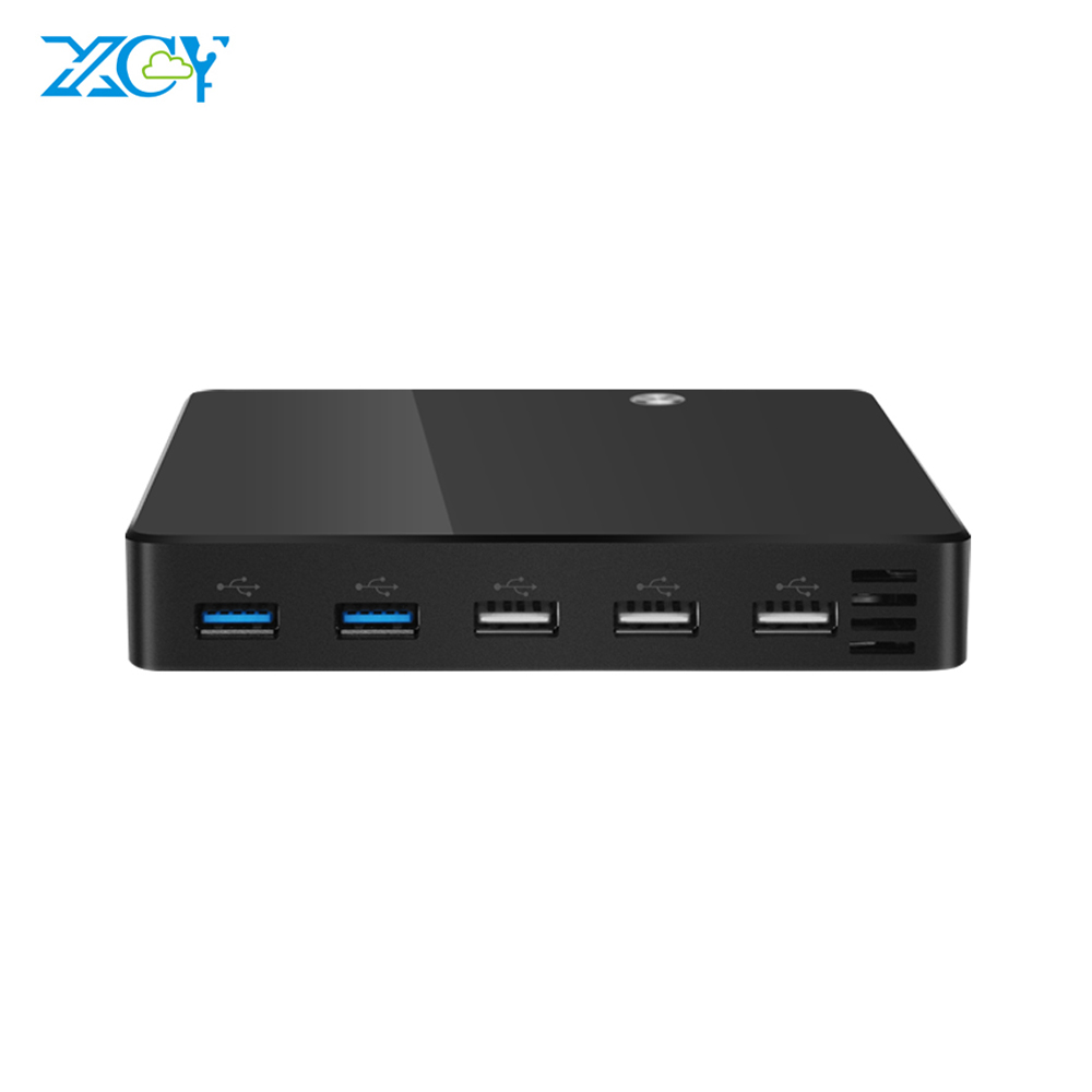 XCY Pocket Mini PC Intel Celeron 1007U Mini Computer Windows 10 HTPC TV Box 300M Wifi HDMI USB Mini PC Computer Plastics