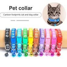 Nuovo simpatico collare a campana per gatti collare per cani Teddy Bomei cane cartone animato divertente impronta collari cavi accessori per gatti articoli per animali