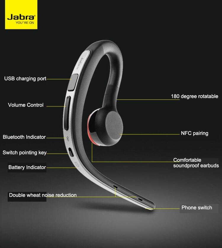 Jabra Storm Chord 3 Wireless Bluetooth Headset Hanging Ear Type Earphone Apple Drive Single Ear Male Original Chord 3 Phone Earphones Headphones Aliexpress