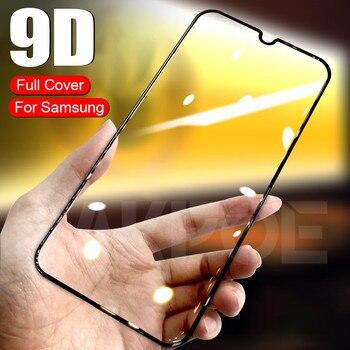 Перейти на Алиэкспресс и купить 9D защитный Стекло на samsung Galaxy A10 A30 A40 A50 A60 Экран протектор для samsung A70 A80 A90 Стекло M10 M20 M30 M40
