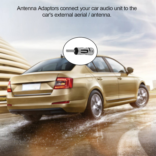 Car Vehicles Radio Stereo ISO To Din Aerial Antenna Mast Adaptor Connector Plug Car Stying Accessories