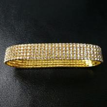 цены 12pcs/Lot 1 Row Clear Crystal Stretchy Rhinestone Anklets 1311281525