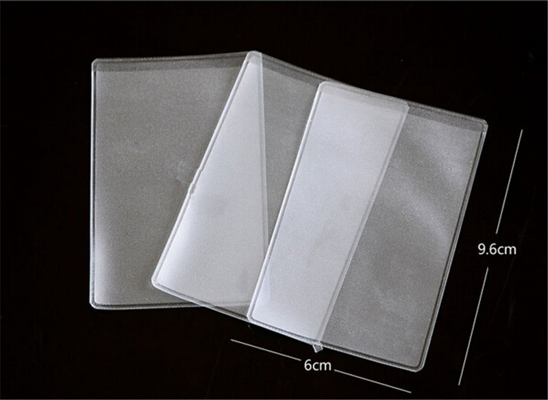 10pcs Plastic Credit Card Sleeves Desk Protectors Dustproof Clear Card Holders Soft Bussiness Card Cover ID Holders 9.6x6cm