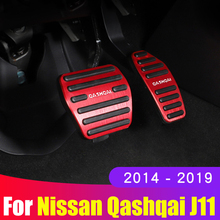 อลูมิเนียมรถAcceleratorเบรคเหยียบปลอกหมอนเท้าเหยียบสำหรับNissan Qashqai J11 2014 2018 2019 2020อุปกรณ์เสริม