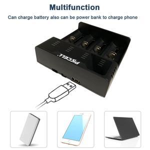 Image 5 - PKCELL cargador de batería inteligente, indicador de carga rápida, 1,2 v, 3,7 v, AA/AAA, 18650, NIMH/cargador NICD