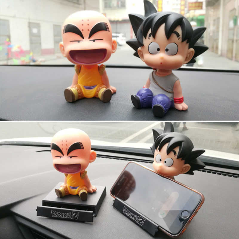 Dragon Ball Goyang Kepala Boneka Mobil Dekorasi Mobil Ornamen Kakarotto Kuririn Oolong Goyang Kepala Auto Aksesoris Rumah Meja Hadiah