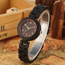 シンプルな木製女性の腕時計リロイ mujer 御代田クォーツムーブメントスリムフル木製ブレスレットレディース時計カスタム腕時計トップギフト