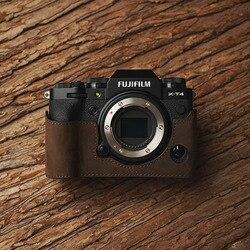 Fuji X-T4 XT4 Camera Mr.Stone Handmade Genuine Leather Camera case Video Half Bag Camera Bodysuit