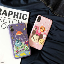 Cute Cartoon Monsters Mike Sullivan Phone Cases For iphone 8 7 6s 6 Plus XS Max XR X Soft Silicone Case 3D Cute Minnie Cover(China)