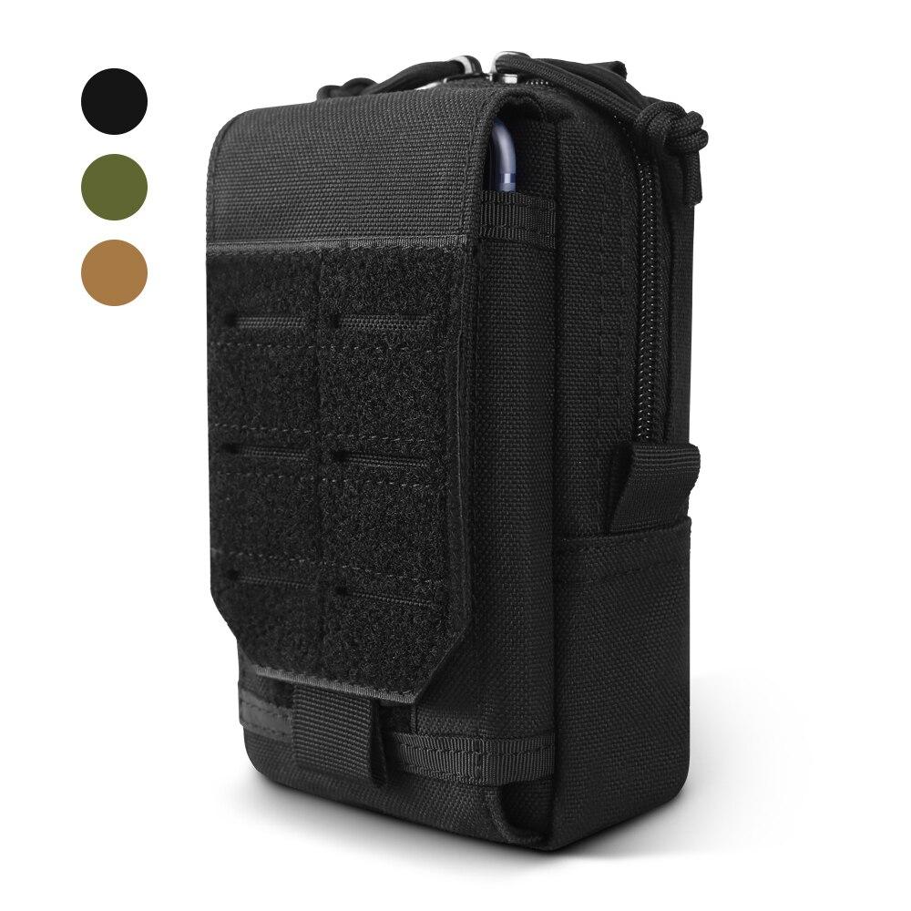 1000D taktik Molle kılıfı askeri bel çantası açık erkekler EDC aracı çanta yelek paketi çanta cep telefonu kılıfı avcılık kompakt çanta