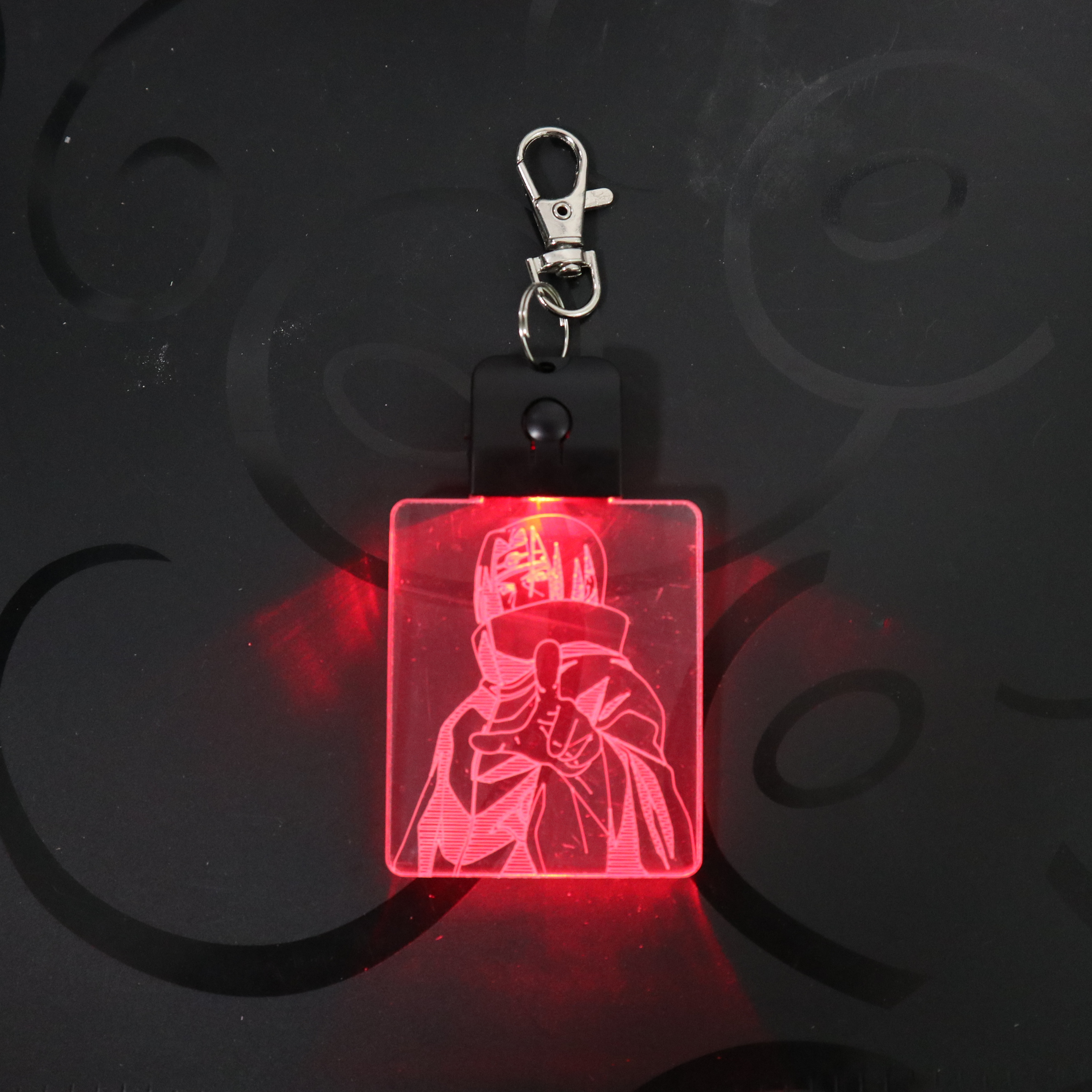 Naruto Figure Cartoon Keychain 3D LED Arylic Night Light Magical Decor Lamp Lighting Colors Decoration Back To School Gift