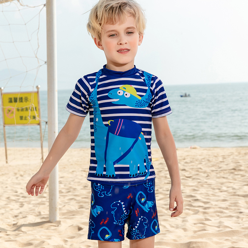 KID'S Swimwear Big Boy BOY'S Split Type Swimming Trunks Set Boy Tour Bathing Suit Teenager Sun-resistant Quick-Dry Swimwear