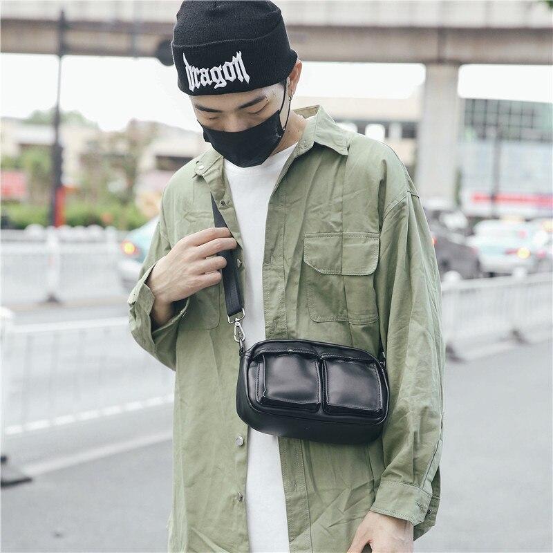 Leisure atmosphere Korean men's shoulder bag women's purse men messenger bag mobile phone bag JIULIN
