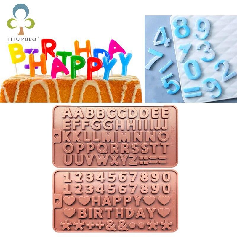 Инструменты для выпечки, форма для торта с 26 буквами и цифрами, силиконовая форма с алфавитом шоколада, форма для льда, форма «сделай сам», по...