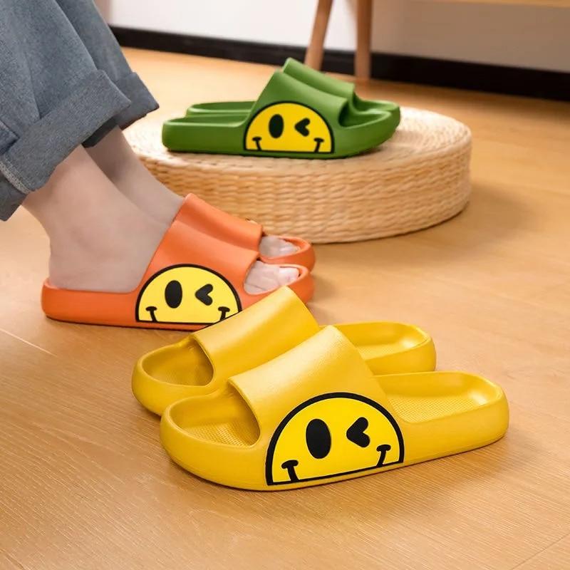 banho chinelos sorriso rosto confortável casa zapatillas salle de bain sapatos planos