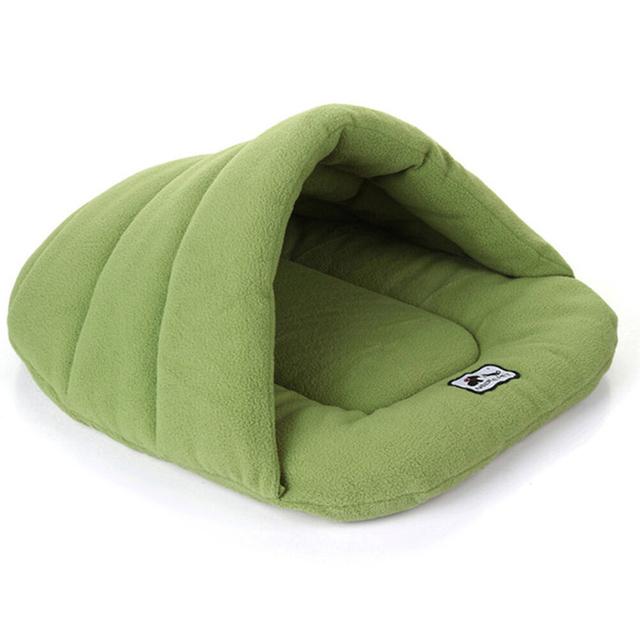 Pet Cat Dog Nest Bed Puppy Soft Warm Cave House Winter Fleece Sleeping Bag Mat Pad Pet Supplies
