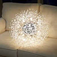 2021 moderne Kristall Löwenzahn Kronleuchter Beleuchtung Anhänger Lampe Für Wohnzimmer Esszimmer Hause Dekoration WF-P40GD Winfordo