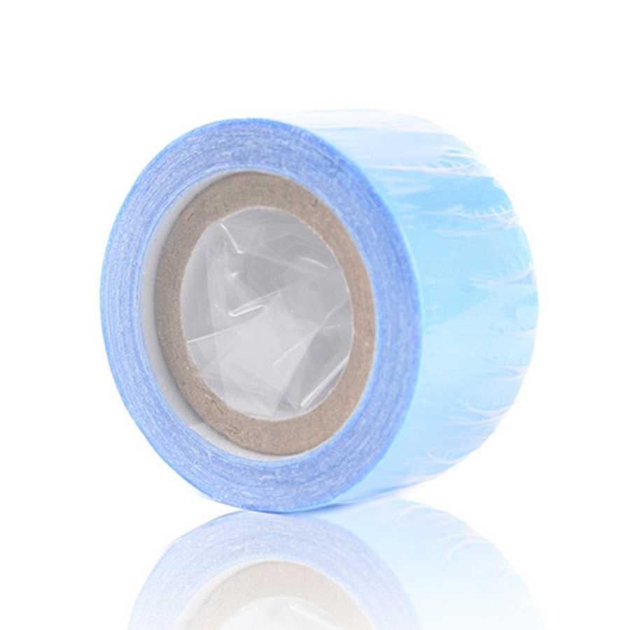 1 rotolo di 3 metri Blu Del Merletto Anteriore A doppia faccia Adesivo a prova di Super-Nastro Per La Extensions/merletto parrucca/Parrucca/Parrucchino