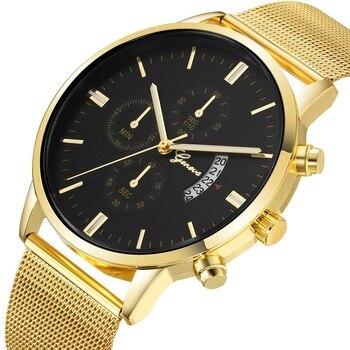 GENEVA Fashion Luxury Watch Women Casual Quartz Wrist Watch Dress Gold Bracelet Womens Watches Ladies Watch Relogio Feminino