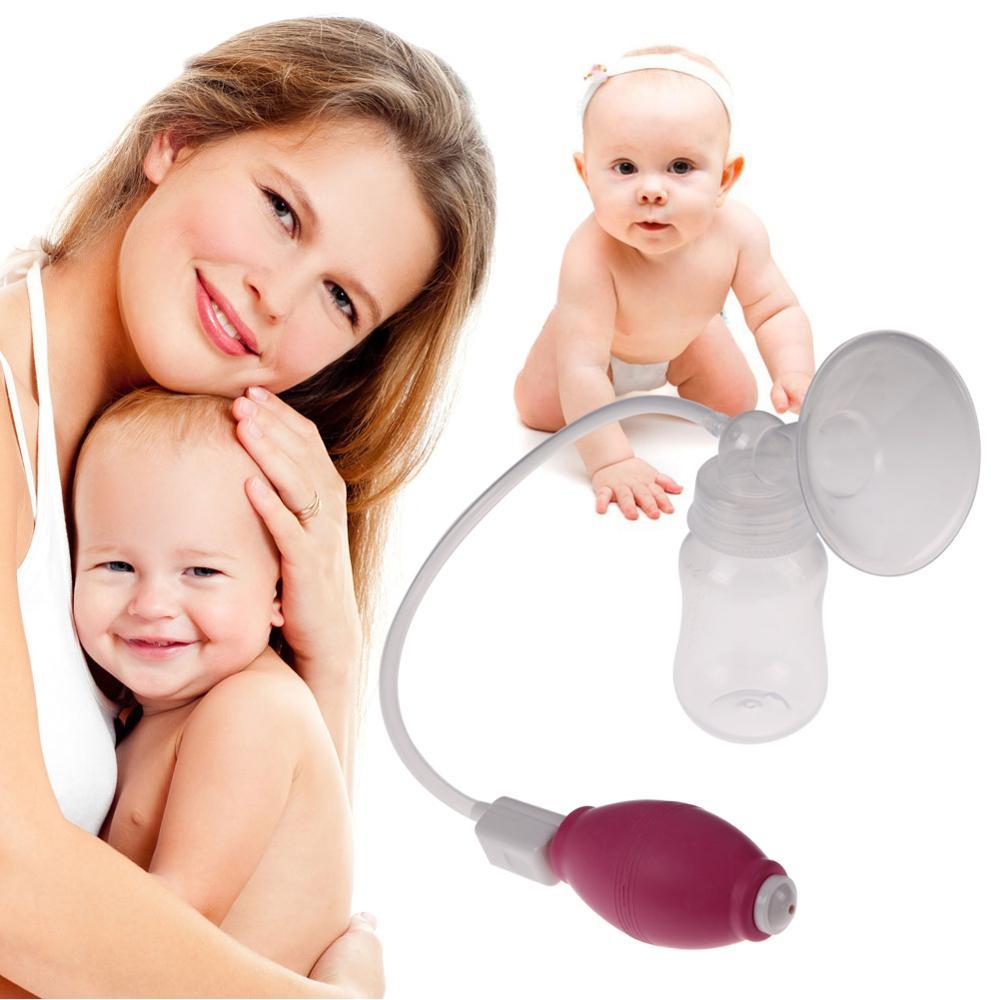 Manual Breast Pump Powerful Baby Nipple Suction Safe Milk Sucking 120ml Feeding Milk Bottles Breasts Pumps Bottle Sucking Feedin