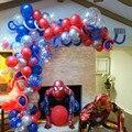 Гигантский паук 3D человек Фольга воздушные шары красные, синие латекс арочный комплект гирлянда шар День рождения Декорации дети мальчик и...