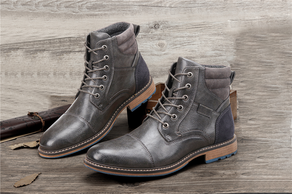 7~13 boots men fashion comfortable 2020 brand casual leather boots #AL605C2