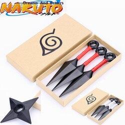 Classic Hokage Naruto Kakashi Akatsuki Uchiha Itachi Throw Kunai Knives Cosplay Props Konoha Ninja Weapon Armor Shuriken Darts