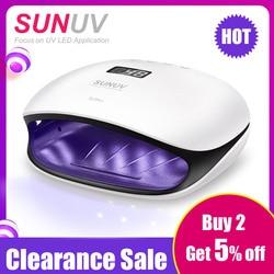 SUNUV SUN4 48 Вт УФ светодиодный светильник Сушилка для ногтей лампа с ЖК-дисплеем умная УФ Фототерапия маникюрный инструмент для дизайна ногтей ...