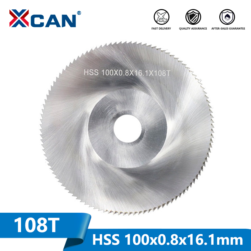 XCAN 1 Piece Diameter 100mm Teeth 108 Z High Speed Steel Saw Blade Woodworking Saw Blade Metal Cutting Slitting Saw Blade