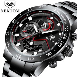 Mens Watches with Stainless Steel Waterproof Analog Quartz Fashion Business Chronograph Watch for Men, Auto Date,Stopwatch